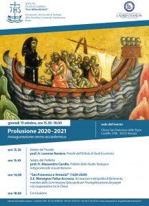 Locandina Prolusione 2020
